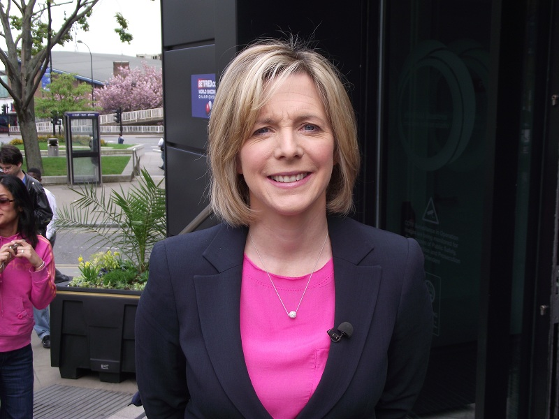 Hazel Irvine World Snooker Championship 2011
