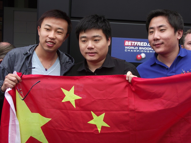 Ding Junhui 丁俊晖 Fans China Flag Snooker World Championship 2011